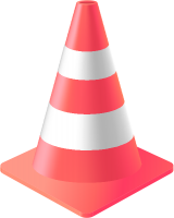 Pink Traffic Cone vector data for free