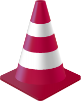 Purple Traffic Cone vector data for free