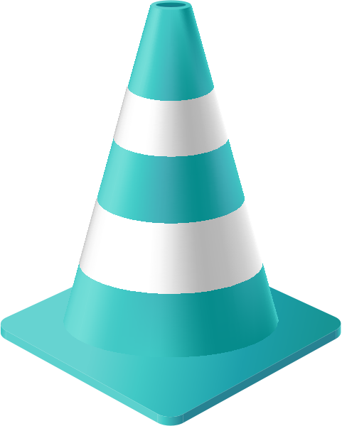 traffic_cone_turquoise_blue