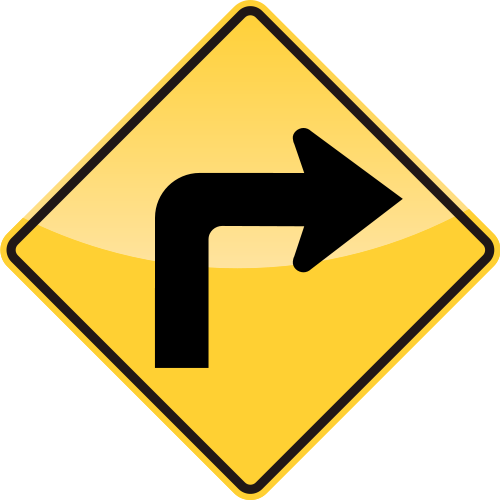TURN RIGHT Sign  SVGVECTOR:Public Domain  ICON PARK  Share the