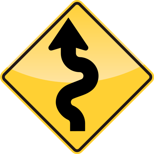 WINDING ROAD Sign | SVG(VECTOR):Public Domain | ICON PARK ...