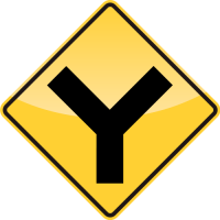 Y ROADS Sign