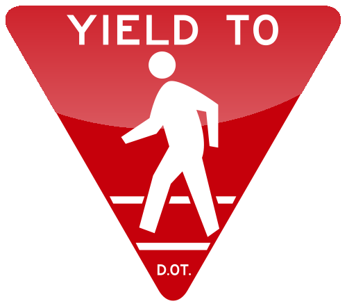 YIELD TO Sign