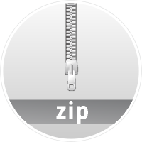 """ZIP"" data compression icon circle"